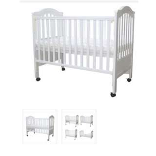 Baby cot (newborn, toddlers and kids) - brown colour