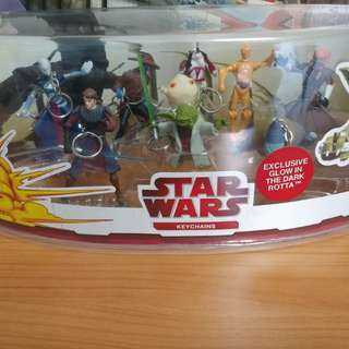 Star Wars The Clone Wars Keychains Set