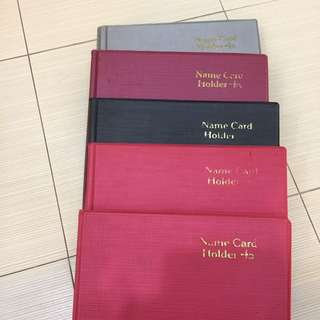 Name cards holders - 5 books to clear