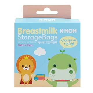 K-mom breast milk storage bags 200ml - 20pcs