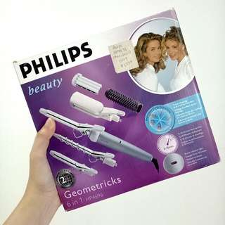 Philips Geometricks 6 in 1 HP4969 Curler + Straightener Set