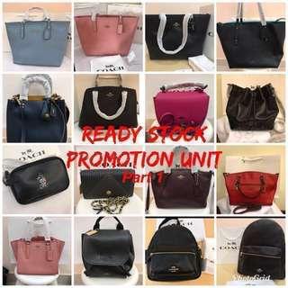 (Ready Stock promotion)Authentic coach Messenger Bag Handbag wallet purse Tote sling bag purse Michael Kors MK Kate Spade