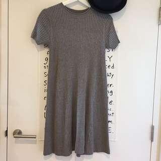 Zara knit dress in grey
