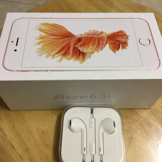 iPhone 6s耳機,連包裝,八成新,正常運作