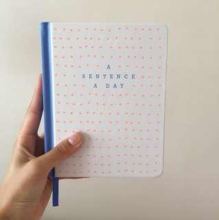 A sentence a day journal
