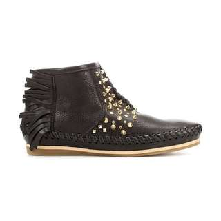 ZARA genuine leather ankle boots