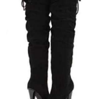 Worn once! Steve Madden thigh high black boots!
