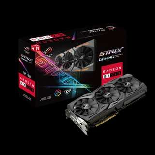 ASUS ROG-STRIX-RX580-T8G-GAMING TOP TRIPLE FAN(3Y)
