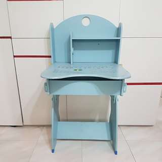 Kids study table with storage used