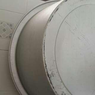 Huge vintage aluminium pail