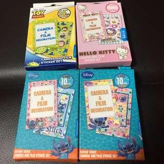 Sanrio Hello Kitty Disney 史迪仔 三眼仔 即影即有裝飾貼紙相框 可作貼紙