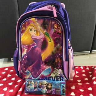 Disney Princess School Trolly Bag - Rapinzel