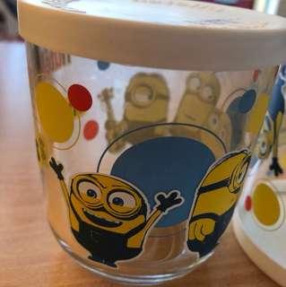 Minions Cup Glass Jar