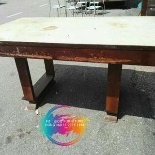 Vintage U leg dining table