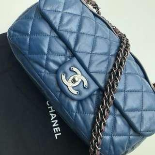 Authentic Chanel Tri Color Seasonal Flap Bag
