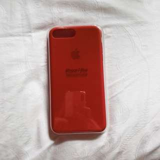 iPhone 7+ Silicone Red Case