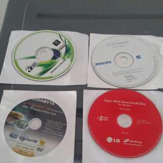 Free : PC DIY set #2 : installation disc drivers and utilities.