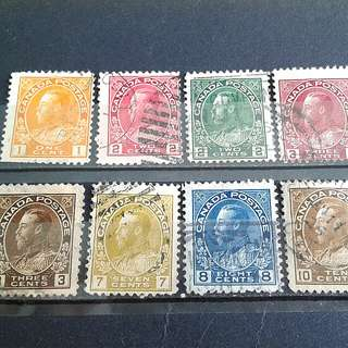 1922 British KG used stamps