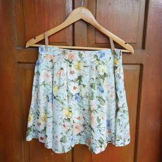 FREE SF Pastel Green Floral Skirt