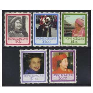 HONG KONG 1986 60th BIRTHDAY QUEEN ELIZABETH MNH BL506