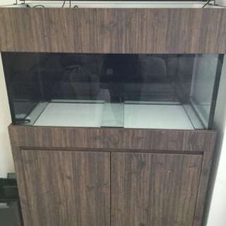 Fish tank - 3 feet custom made cabinet tank