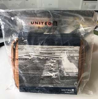 Brand new & sealed United Airlines Business First Class Amenity kit
