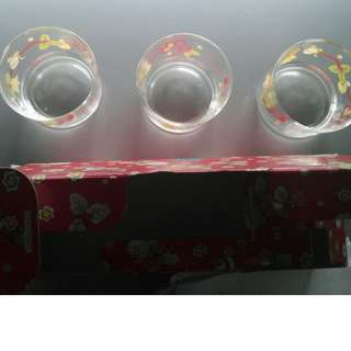 Decorated Glass Tumblers (Italy) - FREE 3 LED light candles