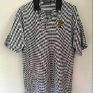 Versace Checkered Polo Top