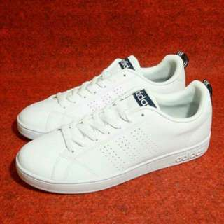 Adidas Neo Advantage Clean White Stripe Navy