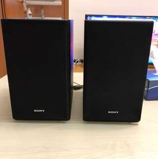 SONY Mini-HiFi Speakers 15.5cm width x 22 cm deep x 25cm tall