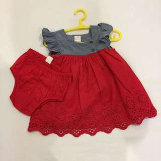 Gap baby girl dress like new 3-6m