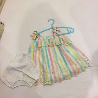 Gap baby girl dress age 3-6m like new really cute