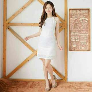 Tiga warna Midi dress brukat jolie dress pesta dress tanktop lace