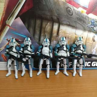 Star Wars Clone Commander Blue Bacara Trooper (Attack on Corucant)