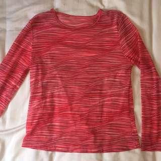 Pink mesh long sleeve