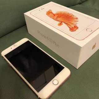 放 新淨 iPhone 6s Plus 128gb 玫瑰金淨機連盒