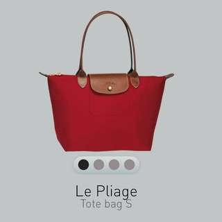 Longchamp 紅色長帶細袋