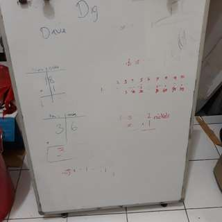 Standing white board
