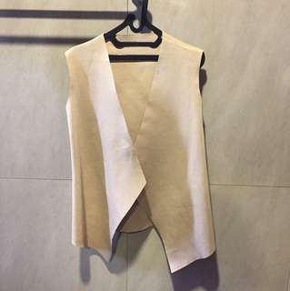 Nude Sleeveless Outer