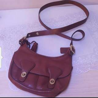 Coach Brown Color Leather England Style Handbag 90%New