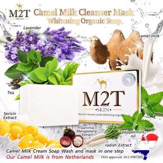 M2T 100% Organic Milk Camel Soap