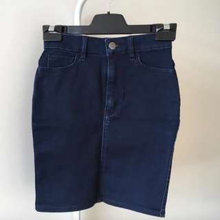 Lee Denim Fitted Skirt (Aus Size 6)