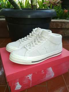 Converse One Star Mid Egret White