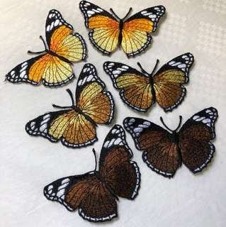 Iron on butterfly embroidery