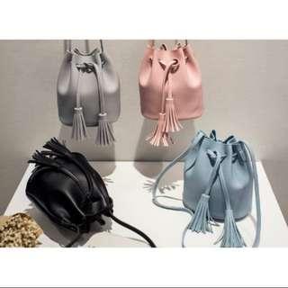 Korean Tassel Drawstring Bag