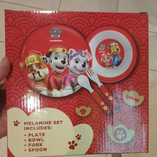 Paw patrol meal set