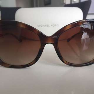 Michael Kors Women's Sunglasses Brown Gold Tones With Case