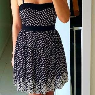 Dark floral dress