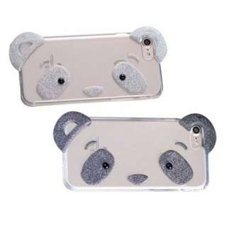 FOR CASING IPHONE 5 5S SE 6 6S 6S+ 7 7+ - PANDA FACE 3D