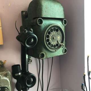 Antique WW2 Telephone